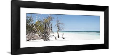 Cuba Fuerte Collection Panoramic - Sandy Beach Pastel Blue-Philippe Hugonnard-Framed Art Print