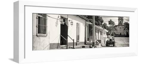 Cuba Fuerte Collection Panoramic BW - Quiet Street in Trinidad-Philippe Hugonnard-Framed Art Print