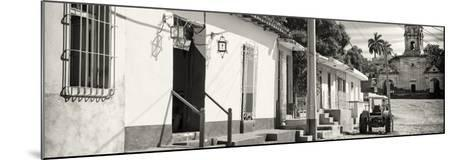 Cuba Fuerte Collection Panoramic BW - Quiet Street in Trinidad-Philippe Hugonnard-Mounted Photographic Print