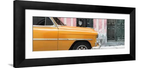 Cuba Fuerte Collection Panoramic - Havana Orange Car-Philippe Hugonnard-Framed Art Print
