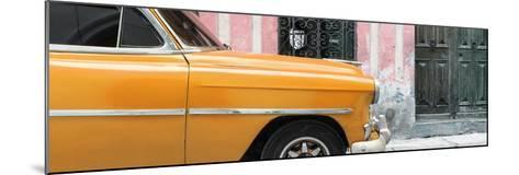 Cuba Fuerte Collection Panoramic - Havana Orange Car-Philippe Hugonnard-Mounted Photographic Print