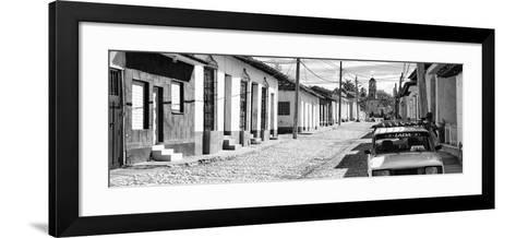 Cuba Fuerte Collection Panoramic BW - Cuban Street Scene in Trinidad II-Philippe Hugonnard-Framed Art Print