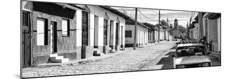 Cuba Fuerte Collection Panoramic BW - Cuban Street Scene in Trinidad II-Philippe Hugonnard-Mounted Photographic Print