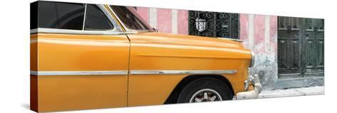 Cuba Fuerte Collection Panoramic - Havana Orange Car-Philippe Hugonnard-Stretched Canvas Print