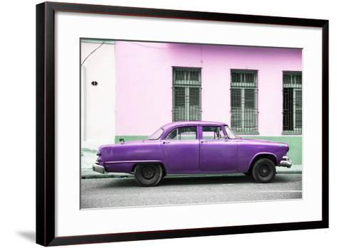 Cuba Fuerte Collection - Purple Car-Philippe Hugonnard-Framed Art Print
