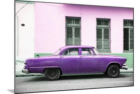 Cuba Fuerte Collection - Purple Car-Philippe Hugonnard-Mounted Photographic Print