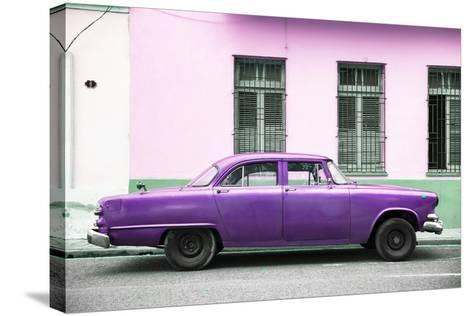 Cuba Fuerte Collection - Purple Car-Philippe Hugonnard-Stretched Canvas Print