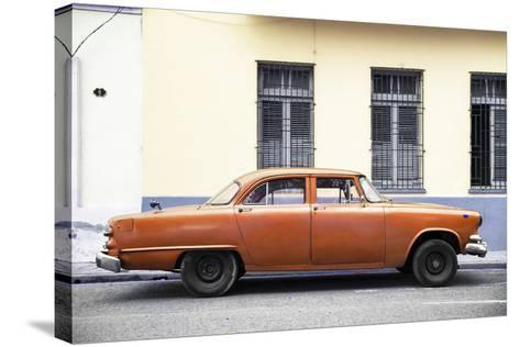 Cuba Fuerte Collection - Orange Car-Philippe Hugonnard-Stretched Canvas Print