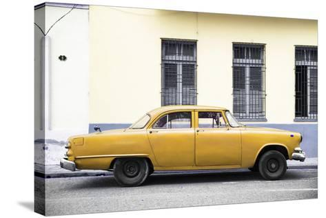 Cuba Fuerte Collection - Yellow Car-Philippe Hugonnard-Stretched Canvas Print