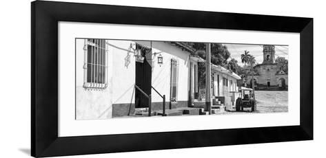 Cuba Fuerte Collection Panoramic BW - Quiet Street in Trinidad II-Philippe Hugonnard-Framed Art Print