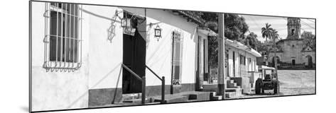 Cuba Fuerte Collection Panoramic BW - Quiet Street in Trinidad II-Philippe Hugonnard-Mounted Photographic Print