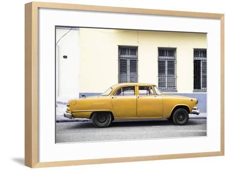 Cuba Fuerte Collection - Yellow Car-Philippe Hugonnard-Framed Art Print