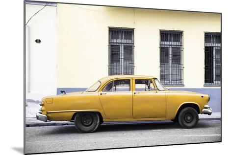 Cuba Fuerte Collection - Yellow Car-Philippe Hugonnard-Mounted Photographic Print