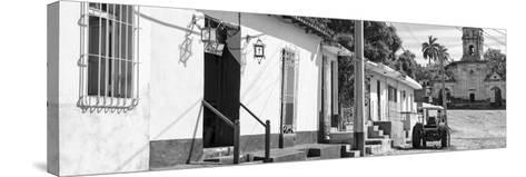 Cuba Fuerte Collection Panoramic BW - Quiet Street in Trinidad II-Philippe Hugonnard-Stretched Canvas Print
