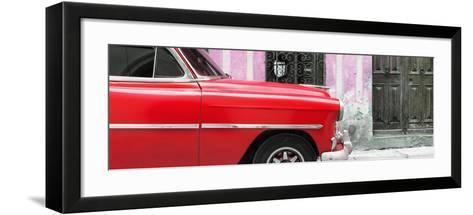 Cuba Fuerte Collection Panoramic - Havana Red Car-Philippe Hugonnard-Framed Art Print