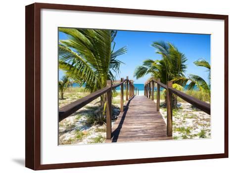 Cuba Fuerte Collection - Way to the Beach-Philippe Hugonnard-Framed Art Print