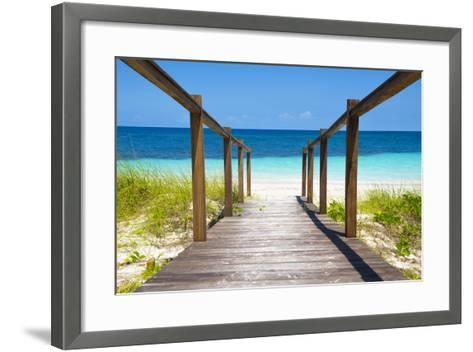 Cuba Fuerte Collection - Wooden Jetty on the Beach-Philippe Hugonnard-Framed Art Print