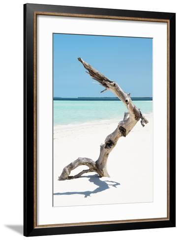 Cuba Fuerte Collection - Alone on the White Sandy Beach II-Philippe Hugonnard-Framed Art Print