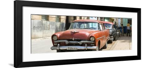 Cuba Fuerte Collection Panoramic - Red Classic Car in Havana-Philippe Hugonnard-Framed Art Print