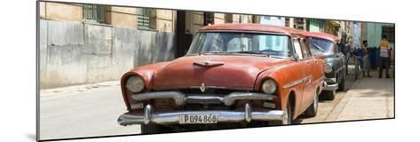 Cuba Fuerte Collection Panoramic - Red Classic Car in Havana-Philippe Hugonnard-Mounted Photographic Print