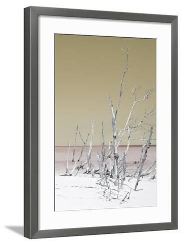 Cuba Fuerte Collection - Wild White Sand Beach III - Pastel Dark Yellow-Philippe Hugonnard-Framed Art Print