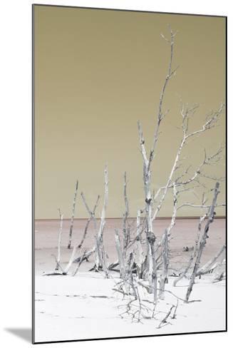 Cuba Fuerte Collection - Wild White Sand Beach III - Pastel Dark Yellow-Philippe Hugonnard-Mounted Photographic Print