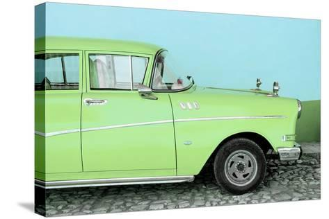 Cuba Fuerte Collection - Close-up of Retro Lime Green Car-Philippe Hugonnard-Stretched Canvas Print