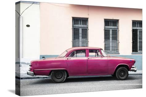 Cuba Fuerte Collection - Dark Pink Car-Philippe Hugonnard-Stretched Canvas Print