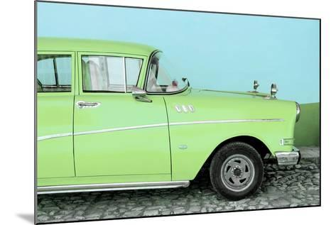 Cuba Fuerte Collection - Close-up of Retro Lime Green Car-Philippe Hugonnard-Mounted Photographic Print