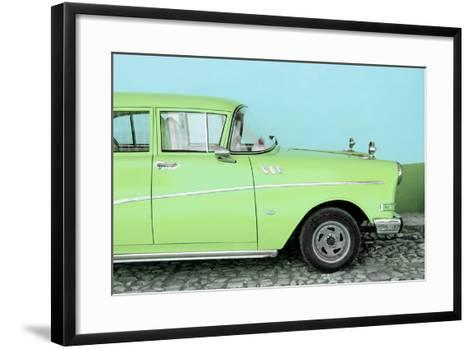 Cuba Fuerte Collection - Close-up of Retro Lime Green Car-Philippe Hugonnard-Framed Art Print