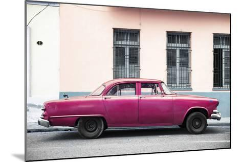 Cuba Fuerte Collection - Dark Pink Car-Philippe Hugonnard-Mounted Photographic Print