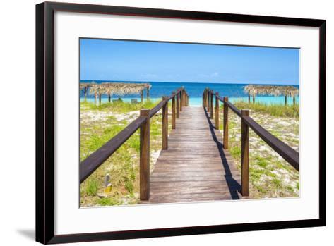 Cuba Fuerte Collection - Wooden Jetty on the Beach III-Philippe Hugonnard-Framed Art Print