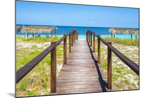 Cuba Fuerte Collection - Wooden Jetty on the Beach III-Philippe Hugonnard-Mounted Photographic Print