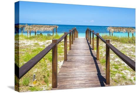 Cuba Fuerte Collection - Wooden Jetty on the Beach III-Philippe Hugonnard-Stretched Canvas Print