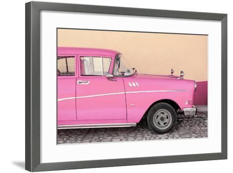 Cuba Fuerte Collection - Close-up of Retro Pink Car-Philippe Hugonnard-Framed Art Print
