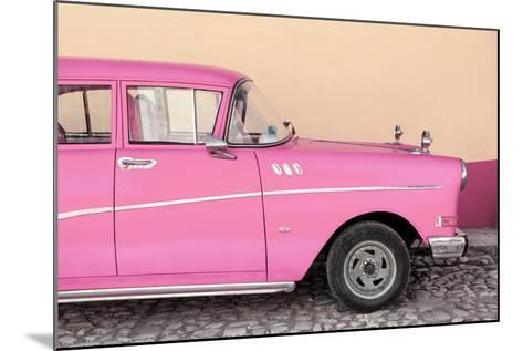 Cuba Fuerte Collection - Close-up of Retro Pink Car-Philippe Hugonnard-Mounted Photographic Print