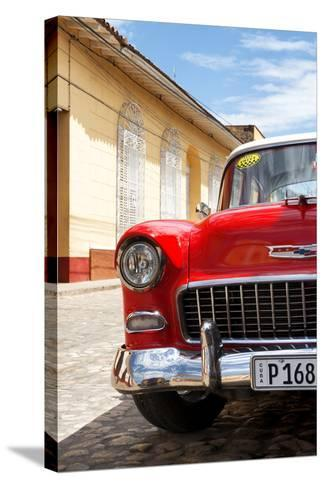 Cuba Fuerte Collection - Cuban Red Car - 1955 Chevy-Philippe Hugonnard-Stretched Canvas Print