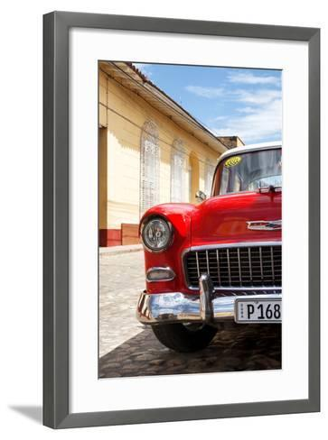 Cuba Fuerte Collection - Cuban Red Car - 1955 Chevy-Philippe Hugonnard-Framed Art Print
