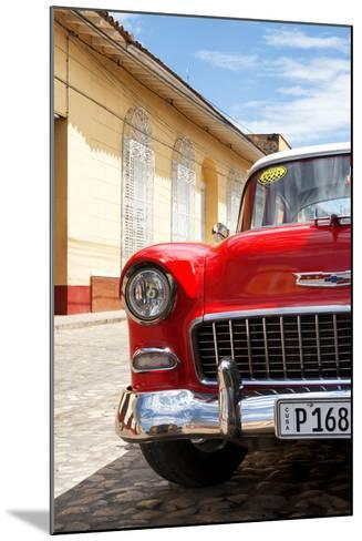 Cuba Fuerte Collection - Cuban Red Car - 1955 Chevy-Philippe Hugonnard-Mounted Photographic Print