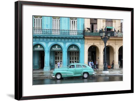 Cuba Fuerte Collection - Colorful Architecture and Turquoise Classic Car-Philippe Hugonnard-Framed Art Print