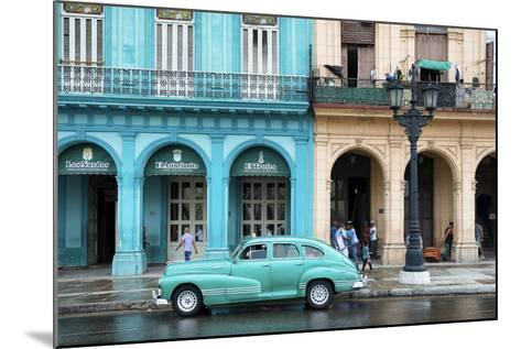 Cuba Fuerte Collection - Colorful Architecture and Turquoise Classic Car-Philippe Hugonnard-Mounted Photographic Print