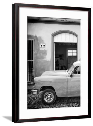 Cuba Fuerte Collection B&W - Classic Car II-Philippe Hugonnard-Framed Art Print