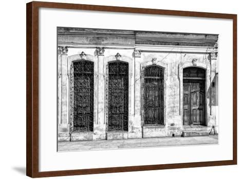 Cuba Fuerte Collection B&W - Cuban Architecture-Philippe Hugonnard-Framed Art Print