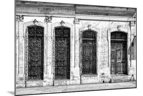 Cuba Fuerte Collection B&W - Cuban Architecture-Philippe Hugonnard-Mounted Photographic Print