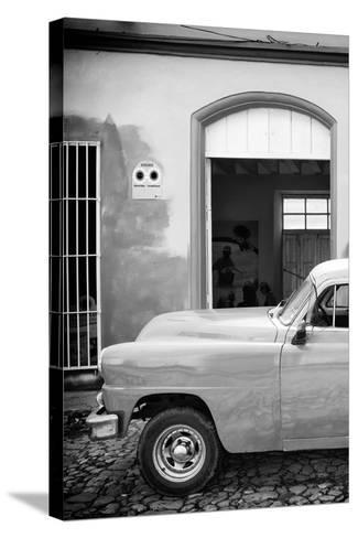 Cuba Fuerte Collection B&W - Classic Car II-Philippe Hugonnard-Stretched Canvas Print