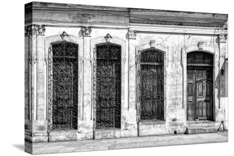 Cuba Fuerte Collection B&W - Cuban Architecture-Philippe Hugonnard-Stretched Canvas Print