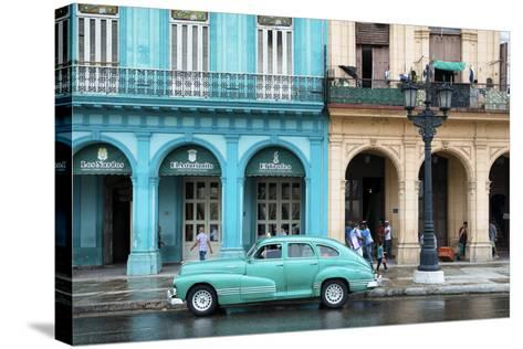 Cuba Fuerte Collection - Colorful Architecture and Turquoise Classic Car-Philippe Hugonnard-Stretched Canvas Print