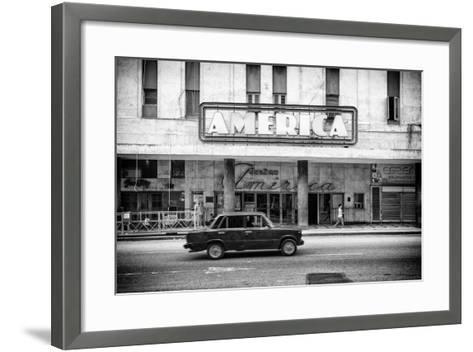 Cuba Fuerte Collection B&W - Teatro America - Havana-Philippe Hugonnard-Framed Art Print