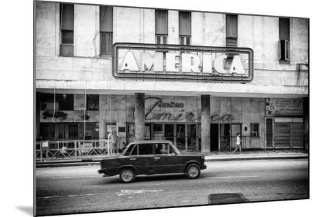 Cuba Fuerte Collection B&W - Teatro America - Havana-Philippe Hugonnard-Mounted Photographic Print