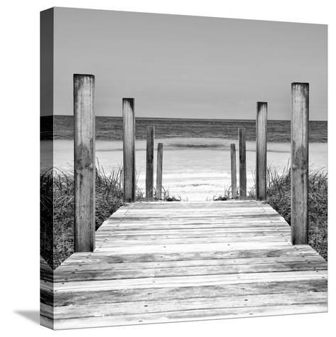 Cuba Fuerte Collection SQ II - Boardwalk on the Beach-Philippe Hugonnard-Stretched Canvas Print